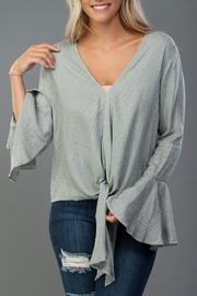 Lovestitch Sage Bell-Sleeve Blouse - Product Mini Image