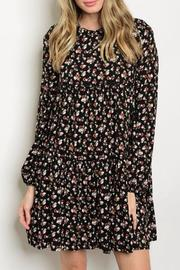 Sage Black Floral Dress - Product Mini Image