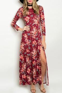 Sage Burgundy Floral Maxi - Product List Image