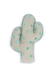 Mon Ami Sage Cactus Pom Pom Pillow - Front cropped