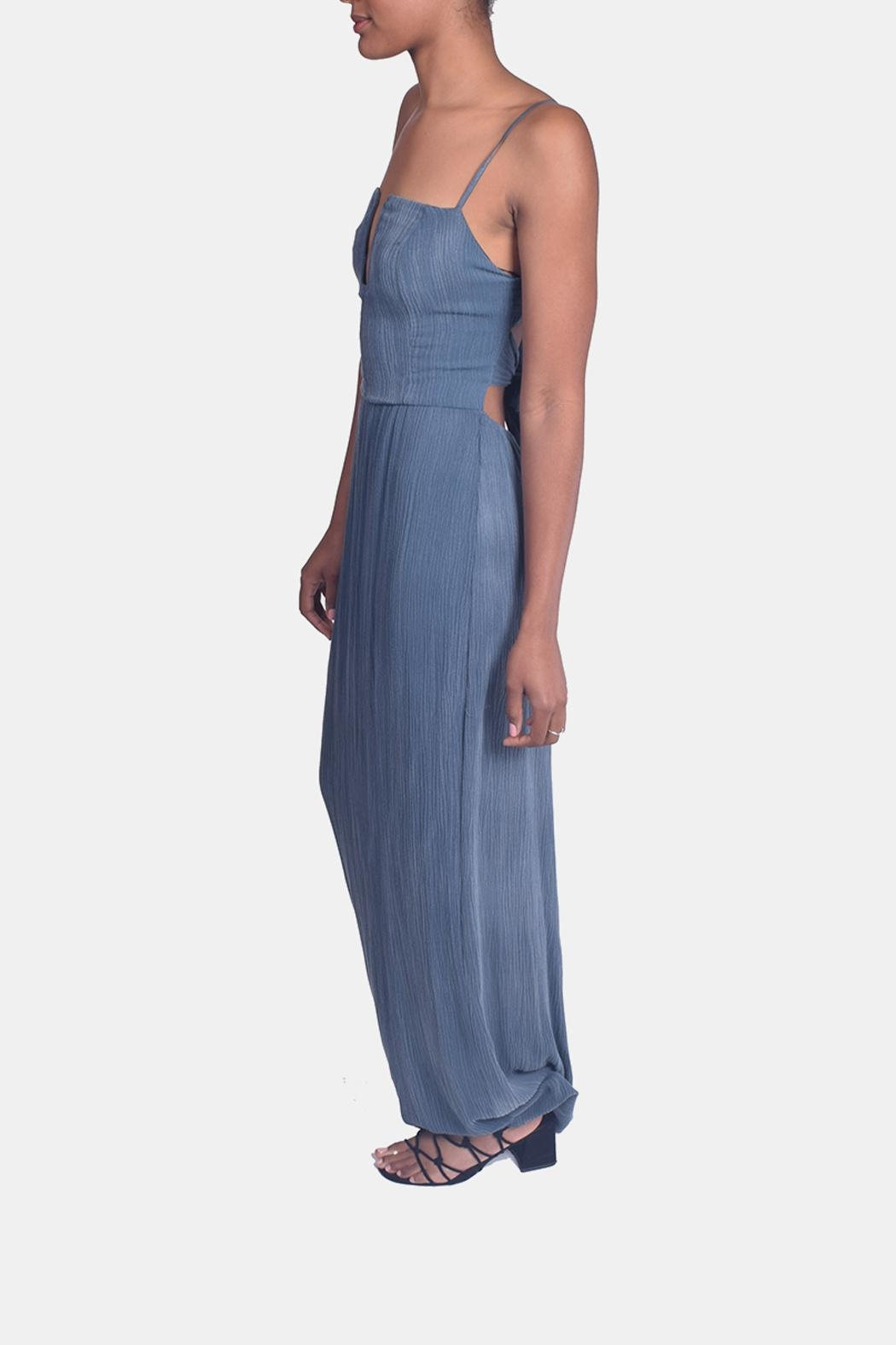 Sage Calm Waters Maxi Dress - Side Cropped Image
