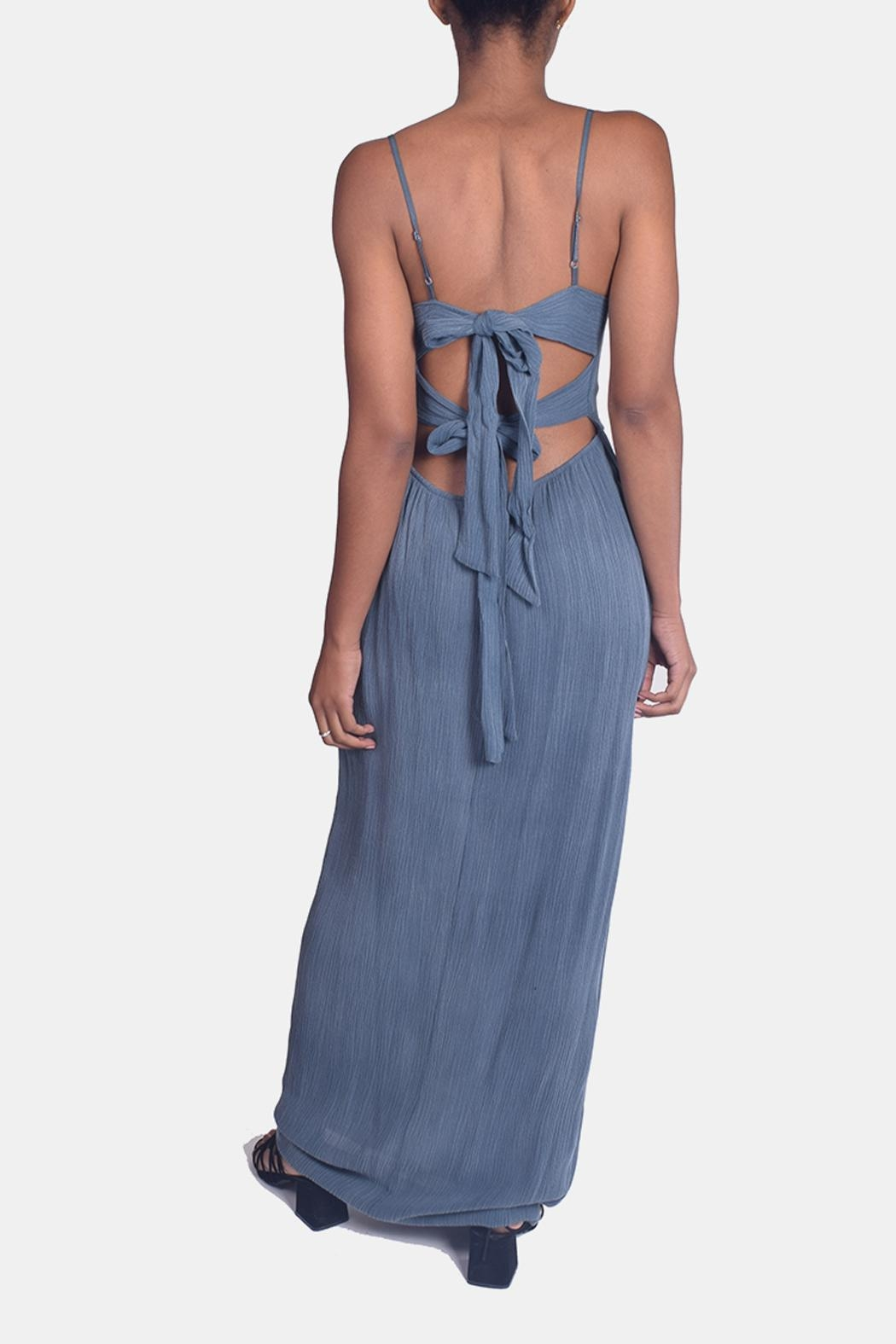 Sage Calm Waters Maxi Dress - Back Cropped Image