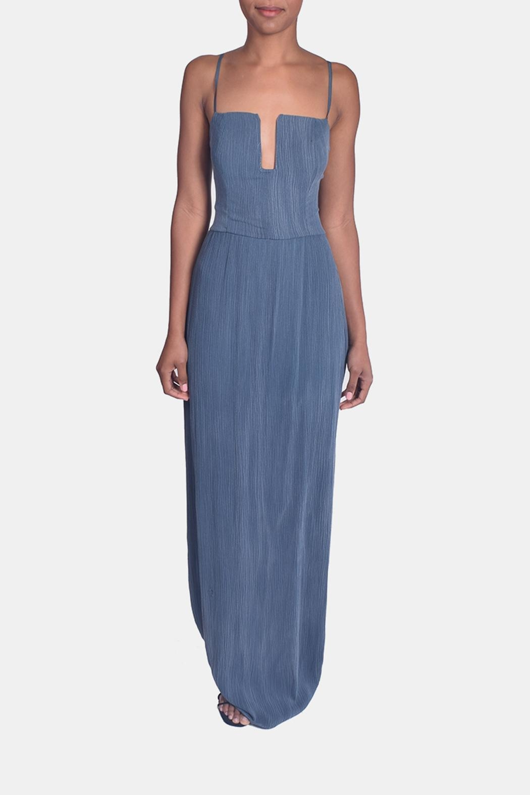 Sage Calm Waters Maxi Dress - Front Full Image