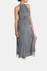 Sage Charcoal High-Neck Maxi-Dress - Side cropped