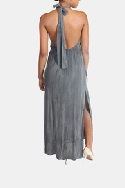 Sage Charcoal High-Neck Maxi-Dress - Other