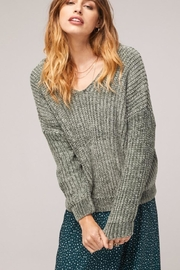 Band Of Gypsies Sage Chenille Sweater - Product Mini Image