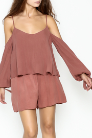 Sage Cold Shoulder Romper - Product Mini Image