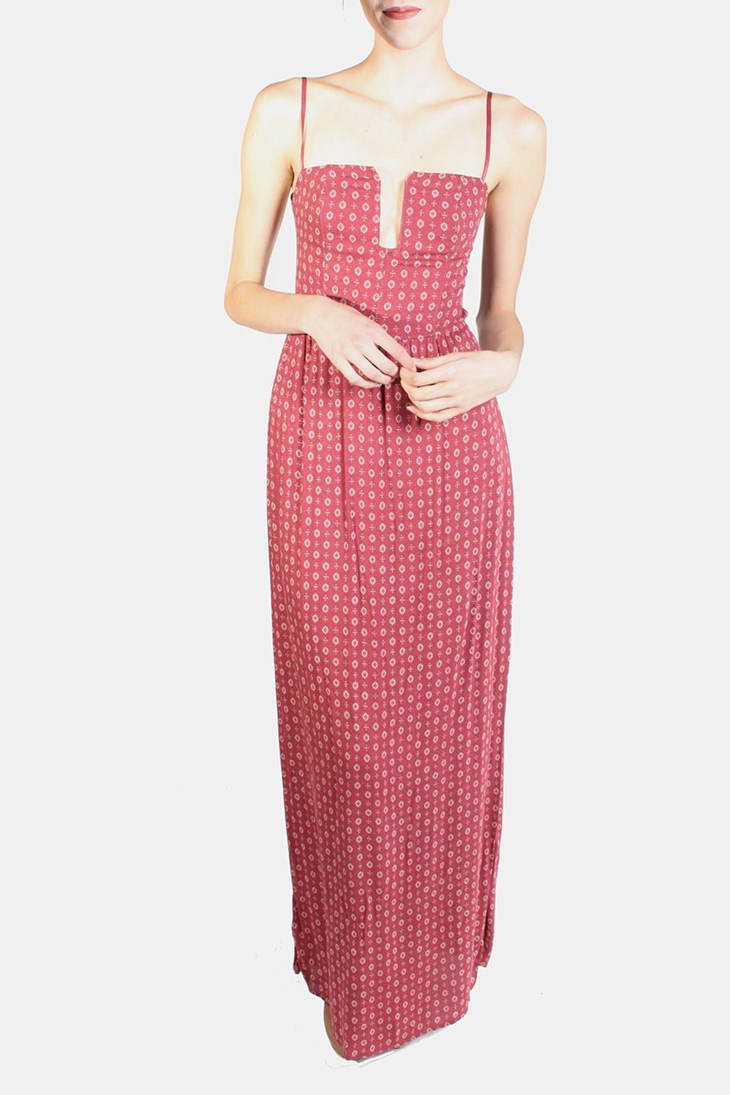 Sage Crimson Maxi Dress - Front Cropped Image