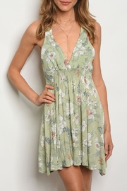 Millibon Sage Floral Dress - Product Mini Image