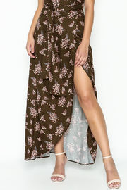 Sage Floral Maxi Skirt - Product Mini Image