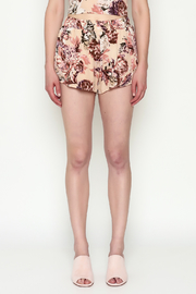 Sage Floral Shorts - Front full body