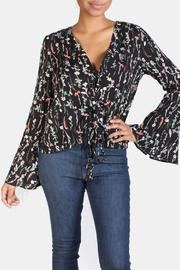 Sage Floral Tie Top - Product Mini Image