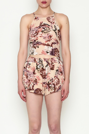 Sage Floral Crop Top - Front full body
