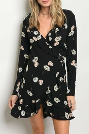 Sage Floral Wrap Dress - Product Mini Image