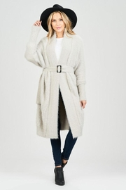 Sage Fuzzy Belted Cardigan - Product Mini Image