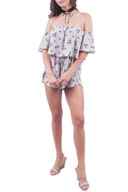 Sage Gray Off Shoulder Romper - Product Mini Image
