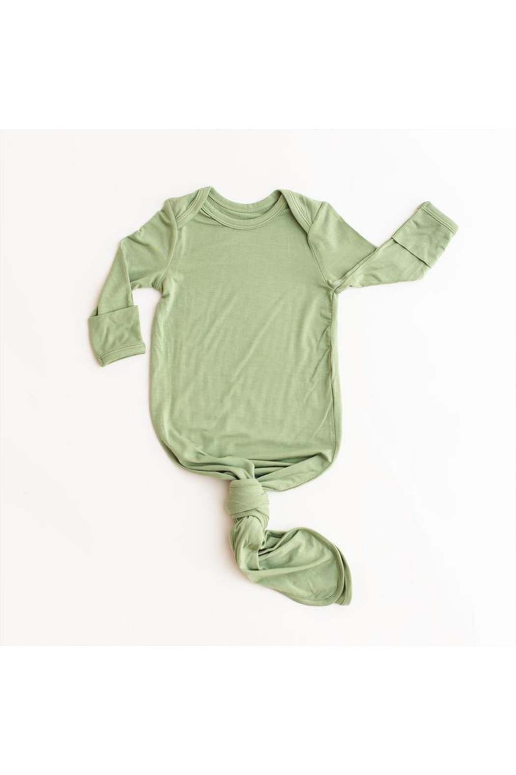 Little Sleepies Sage Green Bamboo Viscose Infant Knotted Gown - Main Image