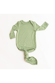Little Sleepies Sage Green Bamboo Viscose Infant Knotted Gown - Front cropped