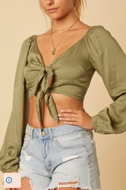 Cotton Candy LA Sage Green Crop-Top - Product Mini Image