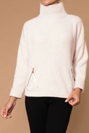 Elena Wang Sage green turtleneck sweater - Front cropped