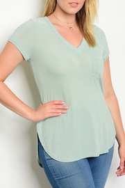 Shop The Trends  Sage Jersey Top - Product Mini Image