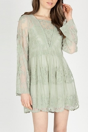 The Vintage Valet Sage Lace Tunic - Product Mini Image