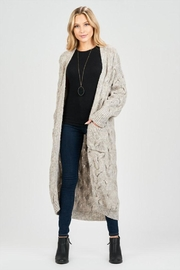 Sage Long Knit Cardigan - Product Mini Image