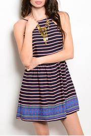 Sage Navy Stripes Dress - Product Mini Image