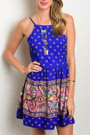 Sage Paisley Print Dress - Front cropped