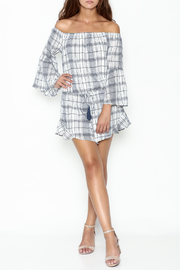 Sage Plaid Romper - Side cropped