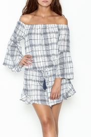 Sage Plaid Romper - Front cropped
