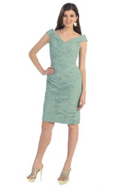 May Queen  Sage Pleated Short Dress - Product Mini Image