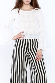 Shoptiques Product: All White Plaid Top