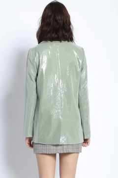 Sans Souci Sage Sequin Blazer - Alternate List Image