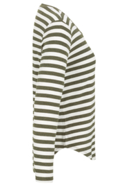 Tribal  Sage Striped Tee - Front full body