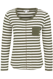 Tribal  Sage Striped Tee - Product Mini Image
