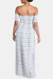 Sage Summer Plaid-Romper Maxi-Dress - Back cropped