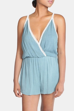 Shoptiques Product: Teal Laced Romper