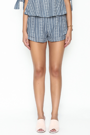 SAGE THE LABEL Blue Print Shorts - Front full body