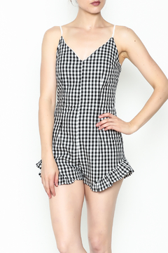 SAGE THE LABEL Gingham Ruffle Romper - Product List Image