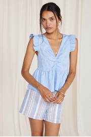 SAGE THE LABEL Sage The Label Infinity Woven Tank Top - Blue - Product Mini Image