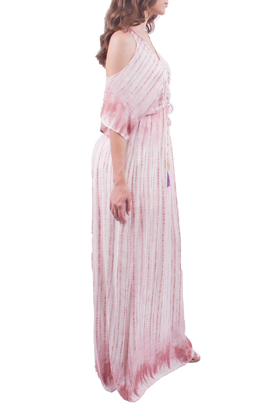 Sage Tie-Dye Maxi Dress - Front Full Image