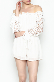 Sage White Romper - Front cropped