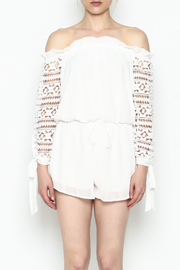 Sage White Romper - Front full body