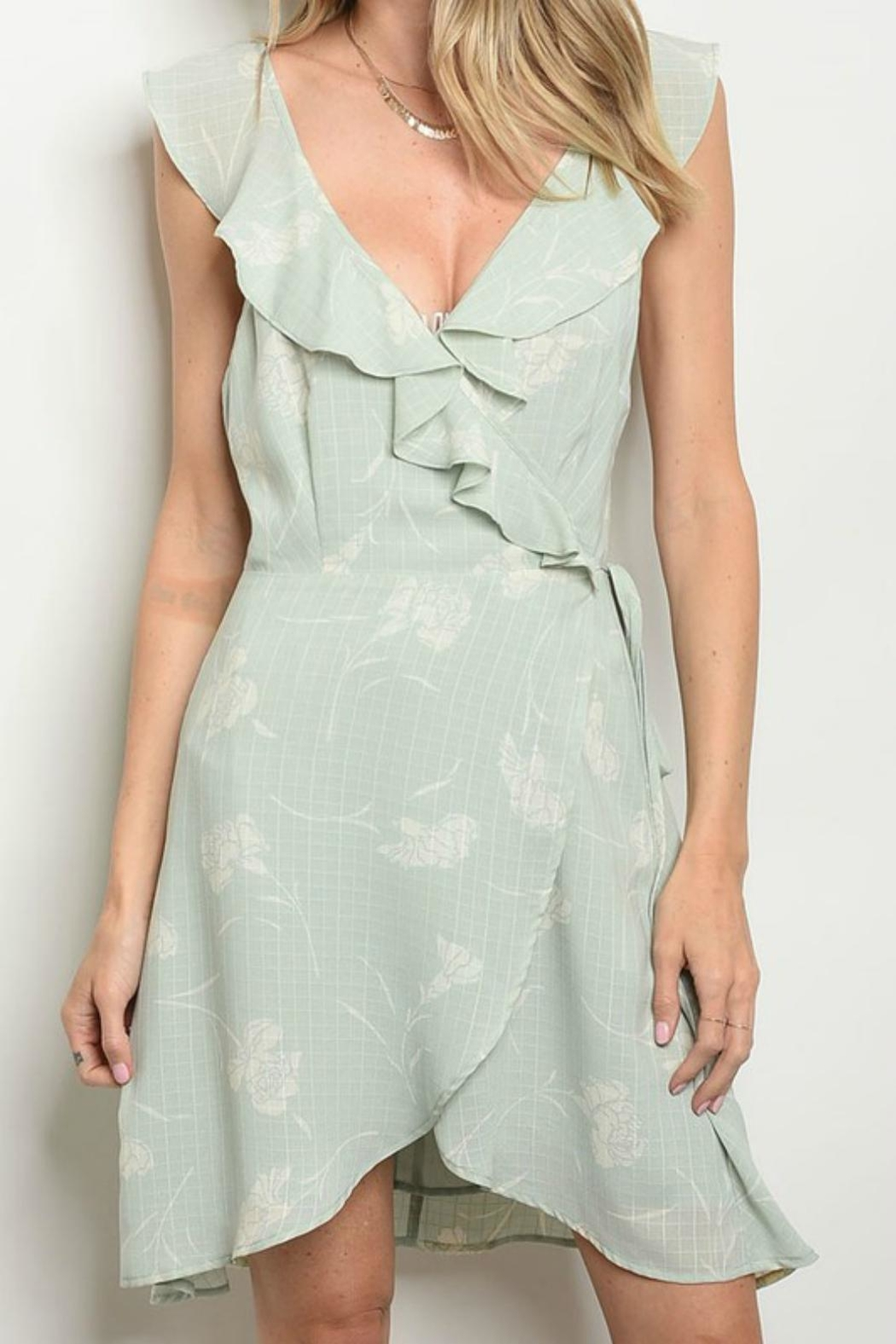 f0ca9b8848d Pretty Little Things Sage Wrap Dress from New Hampshire — Shoptiques