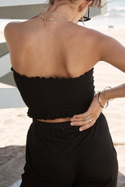 SAGE THE LABEL Cinched Crop Top - Back cropped