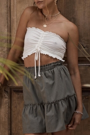 SAGE THE LABEL Cinched Crop Top - Front full body