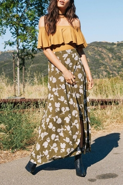 SAGE THE LABEL Olive Floral Skirt - Product List Image
