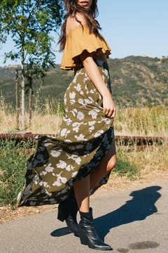 SAGE THE LABEL Olive Floral Skirt - Alternate List Image