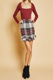 SAGE THE LABEL Plaid Skirt - Front cropped